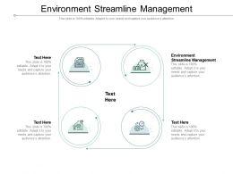 Environment Streamline Management Ppt Presentation Portfolio Themes Cpb