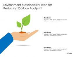 Environment Sustainability Icon For Reducing Carbon Footprint