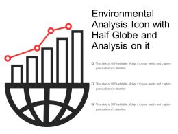 Environmental Analysis Icon With Half Globe And Analysis On It