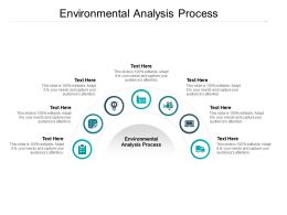 Environmental Analysis Process Ppt Powerpoint Presentation Icons Cpb