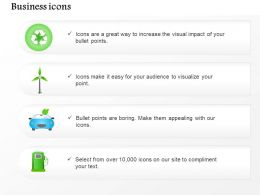 Environmental And Green Energy Icons Recycle And Windmill Symbols Editable Icons