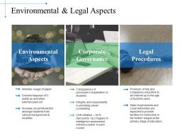 Environmental And Legal Aspects Example Of Ppt