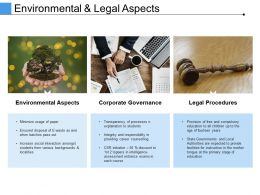 Environmental And Legal Aspects Ppt Diagrams