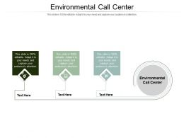 Environmental Call Center Ppt Powerpoint Presentation Slides Infographic Template Cpb