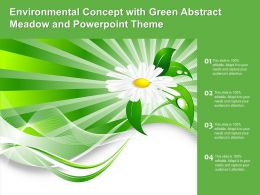 Environmental Concept With Green Abstract Meadow And Powerpoint Theme