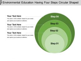 Environmental Education Having Four Steps Circular Shaped