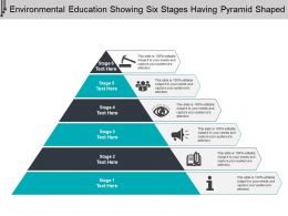 Environmental Education Showing Six Stages Having Pyramid Shaped