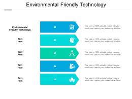Environmental Friendly Technology Ppt Powerpoint Presentation Icon Deck Cpb
