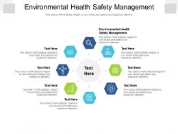 Environmental Health Safety Management Ppt Powerpoint Presentation Model Design Templates Cpb