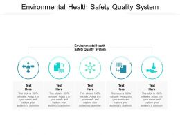 Environmental Health Safety Quality System Ppt Powerpoint Presentation Ideas Layout Cpb