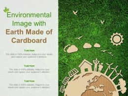 Environmental Image With Earth Made Of Cardboard