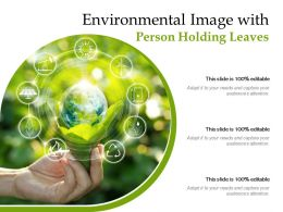 Environmental Image With Person Holding Leaves