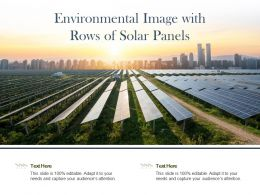 Environmental Image With Rows Of Solar Panels