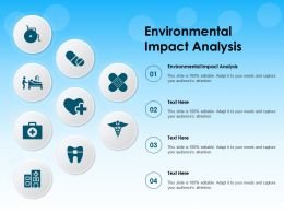 Environmental Impact Analysis Ppt Powerpoint Presentation Portfolio Background Images