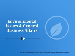 Environmental Issues And General Business Affairs Powerpoint Templates