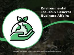 Environmental Issues And General Business Affairs Ppt Design