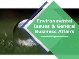 Environmental Issues And General Business Affairs Ppt Model