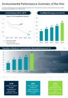 Environmental Performance Summary Of The Firm Presentation Report Infographic PPT PDF Document