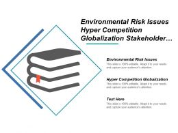 Environmental Risk Issues Hyper Competition Globalization Stakeholder Pressures