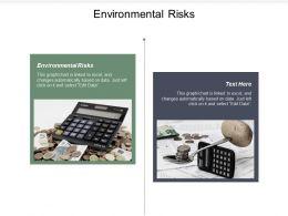 Environmental Risks Ppt Powerpoint Presentation Portfolio Slide Download Cpb
