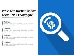 Environmental Scan Icon Ppt Example
