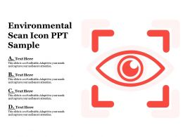 Environmental Scan Icon Ppt Sample