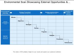 Environmental Scan Showcasing External Opportunities And Threats