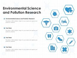 Environmental Science And Pollution Research Ppt Powerpoint Presentation Icon