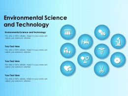 Environmental Science And Technology Ppt Powerpoint Presentation Outline Graphics
