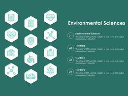 Environmental Sciences Ppt Powerpoint Presentation Model Skills