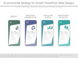 Environmental Strategy For Growth Powerpoint Slide Designs