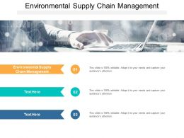 Environmental Supply Chain Management Ppt Powerpoint Infographic Cpb
