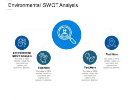 Environmental SWOT Analysis Ppt Powerpoint Presentation Gallery Cpb