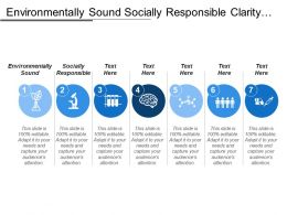 Environmentally Sound Socially Responsible Clarity Responsibility Mutual Understanding