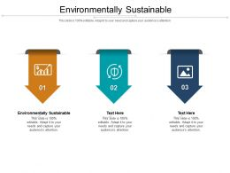 Environmentally Sustainable Ppt Powerpoint Presentation Icon Clipart Images Cpb