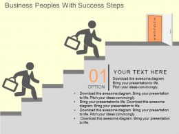 Eo Business Peoples With Success Steps Flat Powerpoint Design