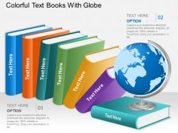 eo Colorful Text Books With Globe Powerpoint Template