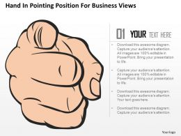 Eo Hand In Pointing Position For Business Views Powerpoint Template