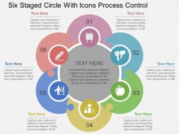 Eo Six Staged Circle With Icons Process Control Flat Powerpoint Design