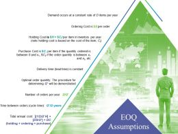 Eoq Assumptions Powerpoint Presentation Templates