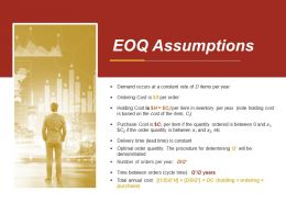 Eoq Assumptions Presentation Powerpoint Example