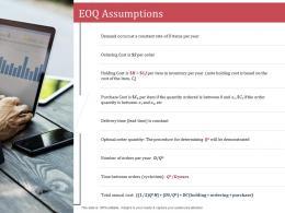 EOQ Assumptions SCM Performance Measures Ppt Demonstration