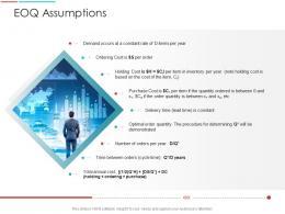 EOQ Assumptions Supply Chain Management Architecture Ppt Portrait