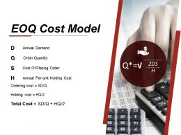 Eoq Cost Model Presentation Powerpoint