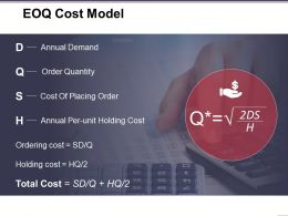Eoq Cost Model Presentation Powerpoint Example