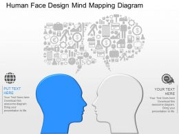 ep Human Face Design Mind Mapping Diagram Powerpoint Template