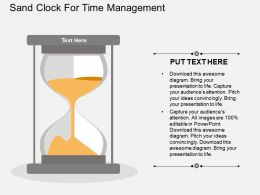 ep Sand Clock For Time Management Flat Powerpoint Design