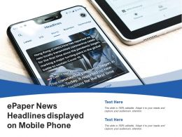 ePaper News Headlines Displayed On Mobile Phone