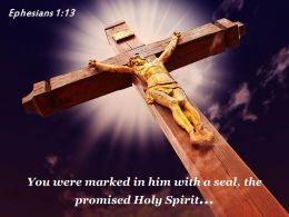 Ephesians 1 13 You Were Marked In Him Power Powerpoint Church Sermon