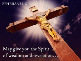 Ephesians 1 17 The Spirit of wisdom Power PowerPoint Church Sermon